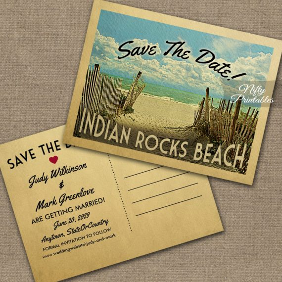 Indian Rocks Beach Save The Date Beach PRINTED