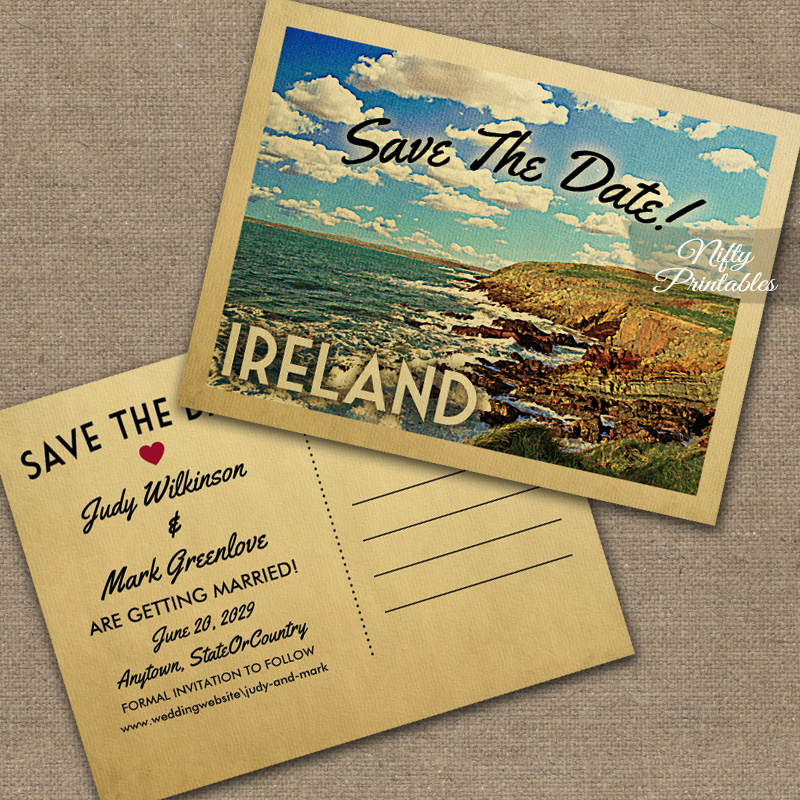 Ireland Save The Date PRINTED
