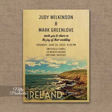 Ireland Wedding Invitations PRINTED