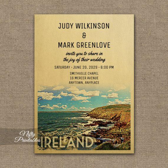 Ireland Wedding Invitation PRINTED