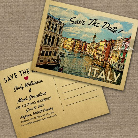 Italy Save The Date PRINTED