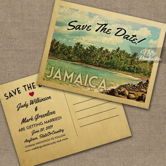 Jamaica Save The Date PRINTED
