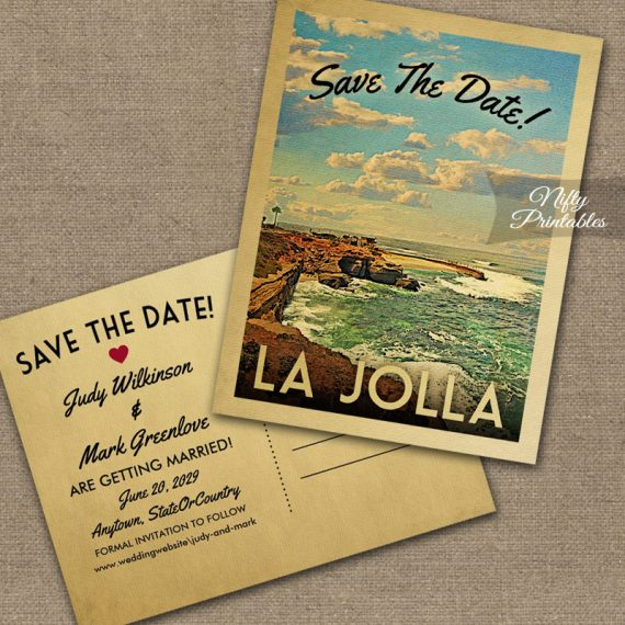 La Jolla Save The Date PRINTED