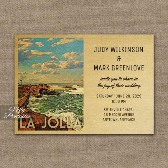 La Jolla Wedding Invitation PRINTED