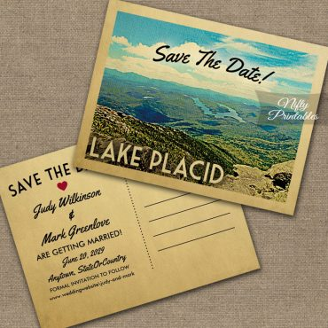 Lake Placid Save The Date PRINTED