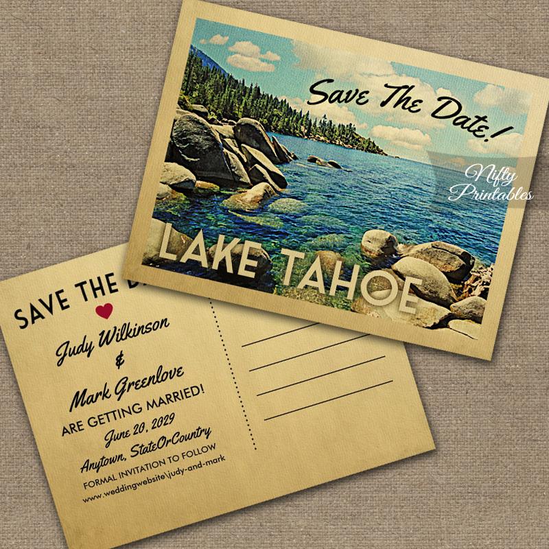 Lake Tahoe Save The Date PRINTED