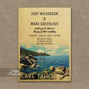 Lake Tahoe Wedding Invitation PRINTED
