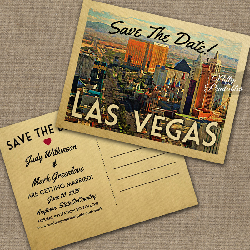 Las Vegas Save The Date PRINTED