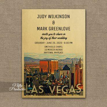 Las Vegas Wedding Invitations PRINTED
