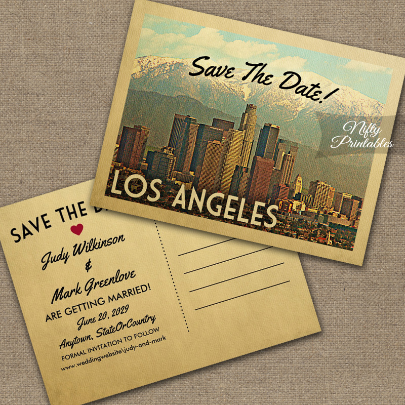 Los Angeles Save The Date PRINTED