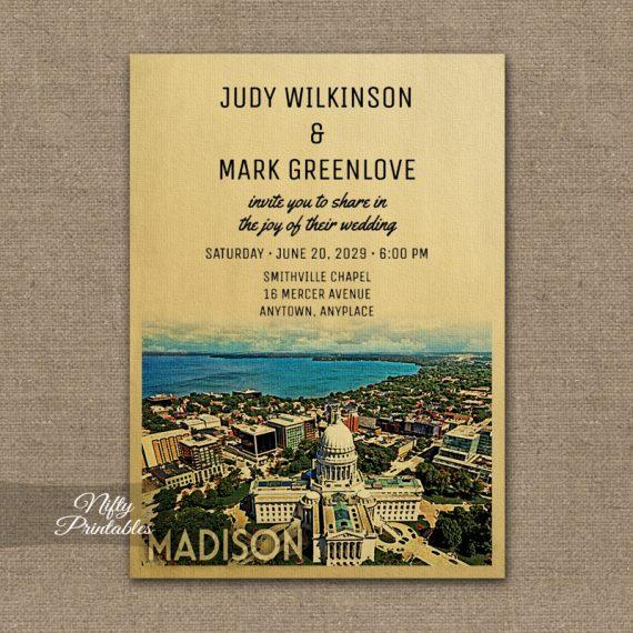 Madison Wedding Invitation PRINTED