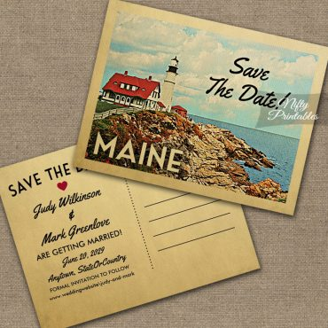 Maine Save The Date PRINTED