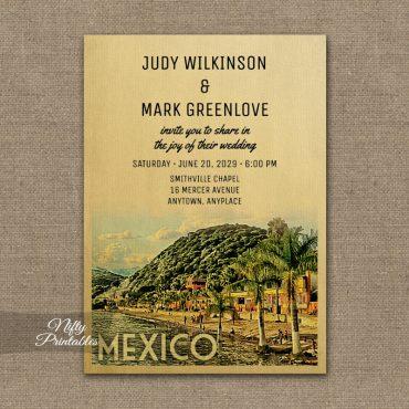 Mexico Wedding Invitation PRINTED