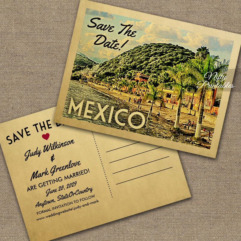 Mexico Save The Date PRINTED