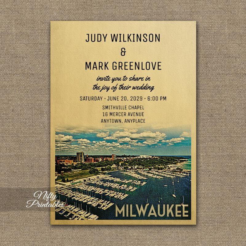 Milwaukee  Wedding Invitations PRINTED