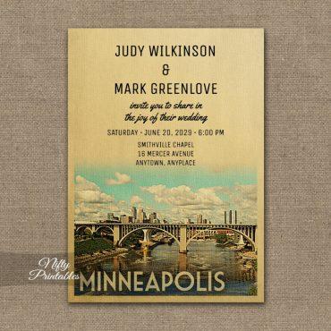 Minneapolis Wedding Invitation PRINTED