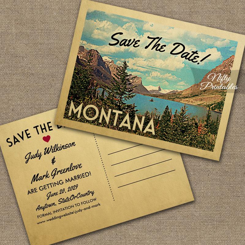 Montana Save The Date PRINTED