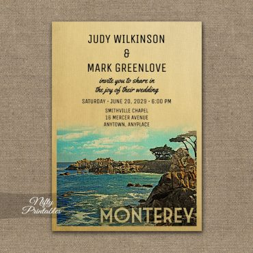 Monterey Wedding Invitation PRINTED