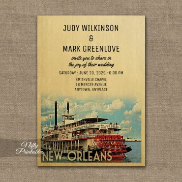 New Orleans Wedding Invitations PRINTED