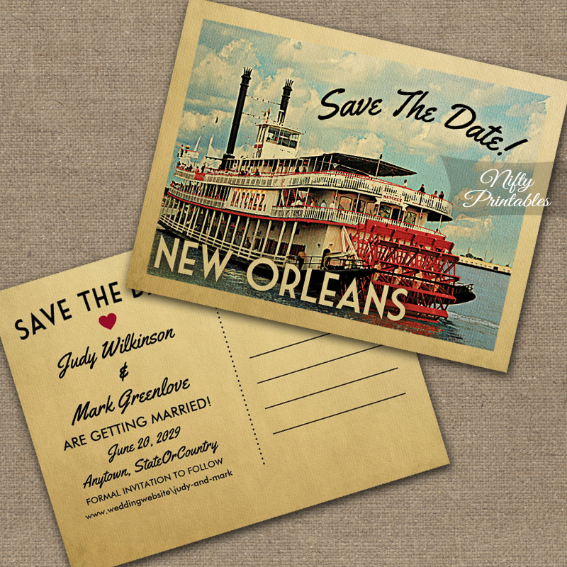 New Orleans Save The Date PRINTED