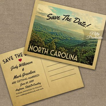 North Carolina Save The Date PRINTED
