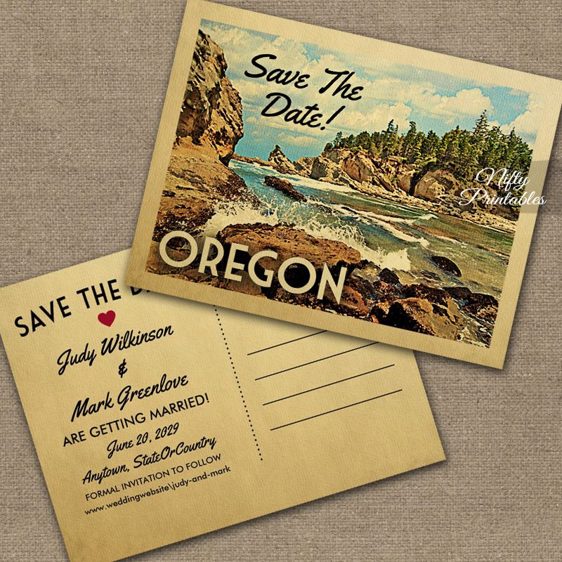 Oregon Save The Date PRINTED