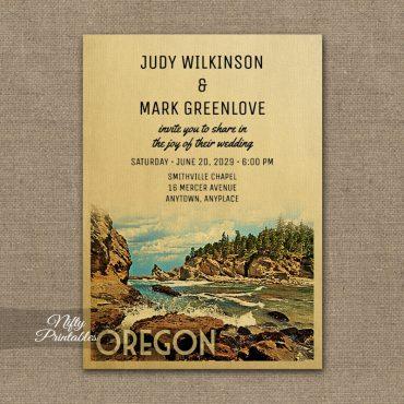 Oregon Wedding Invitation PRINTED