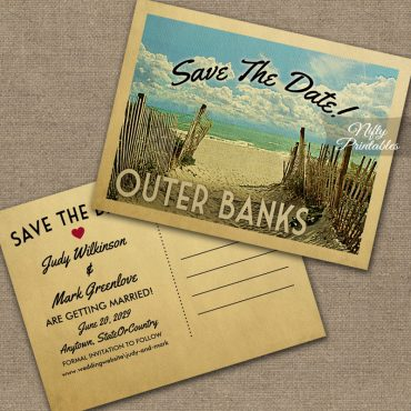 Outer Banks Save The Date Beach PRINTED