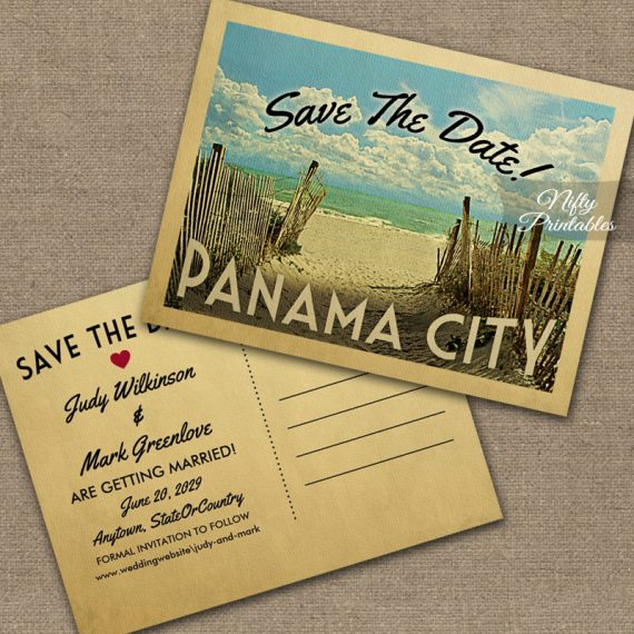 Panama City Save The Date Beach PRINTED