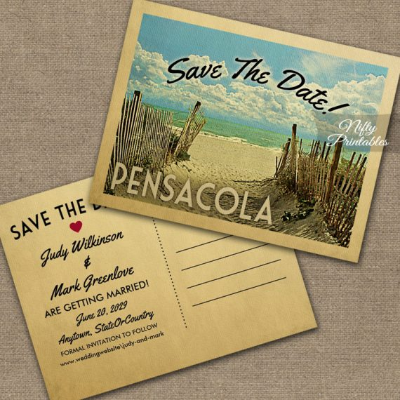 Pensacola Save The Date Beach PRINTED