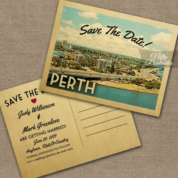 Perth Save The Date PRINTED