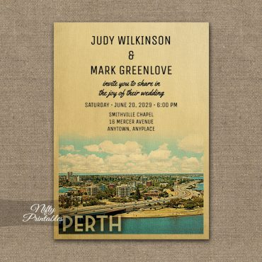 Perth Wedding Invitation PRINTED