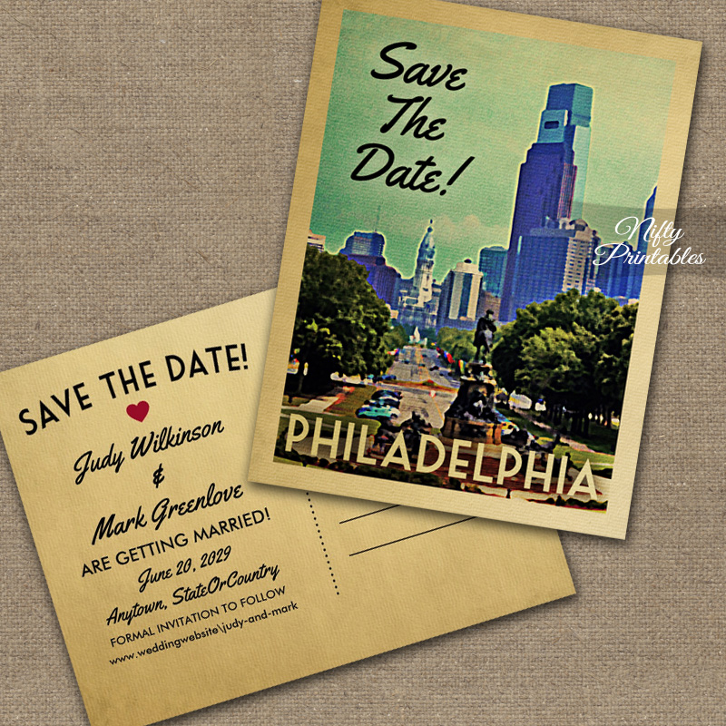 Philadelphia Save The Date PRINTED