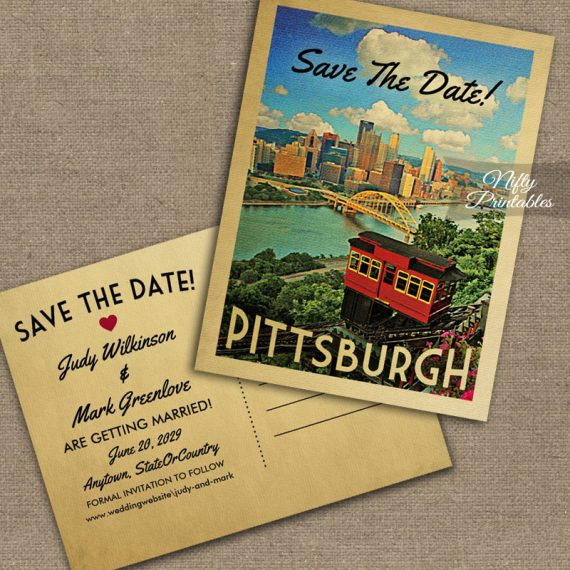 Pittsburgh Save The Date PRINTED