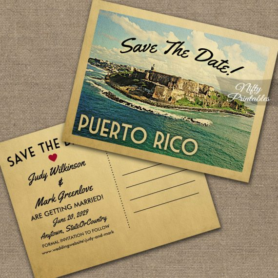Puerto Rico Save The Date PRINTED