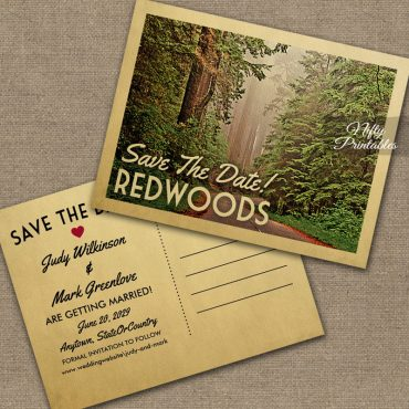 Redwoods California Save The Date PRINTED
