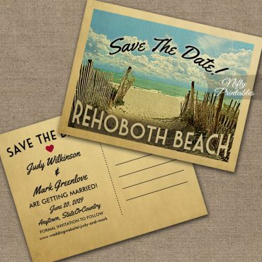 Rehoboth Beach Save The Date Beach PRINTED