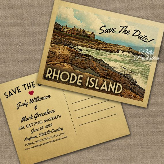 Rhode Island Save The Date PRINTED