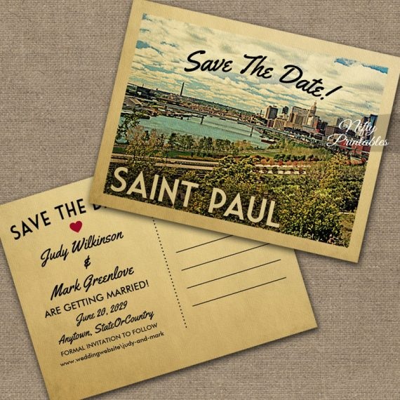 Saint Paul Save The Date St PRINTED