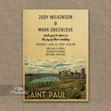Saint Paul Wedding Invitation St PRINTED