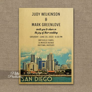 San Diego Wedding Invitations PRINTED