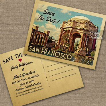 San Francisco Save The Date Palace Fine Arts PRINTED