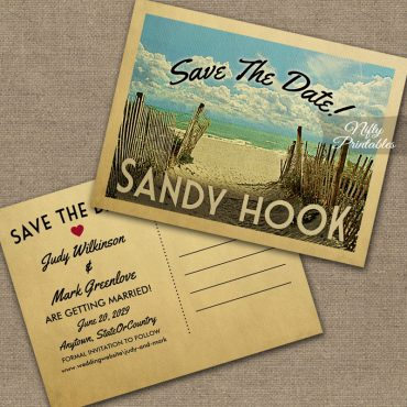 Sandy Hook Save The Date Beach PRINTED