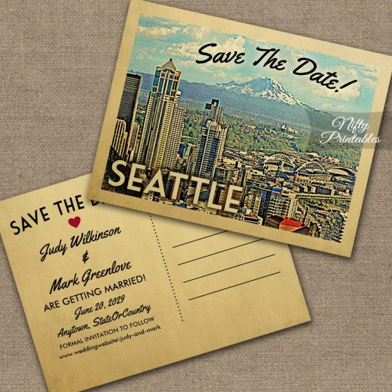 Seattle Save The Date PRINTED