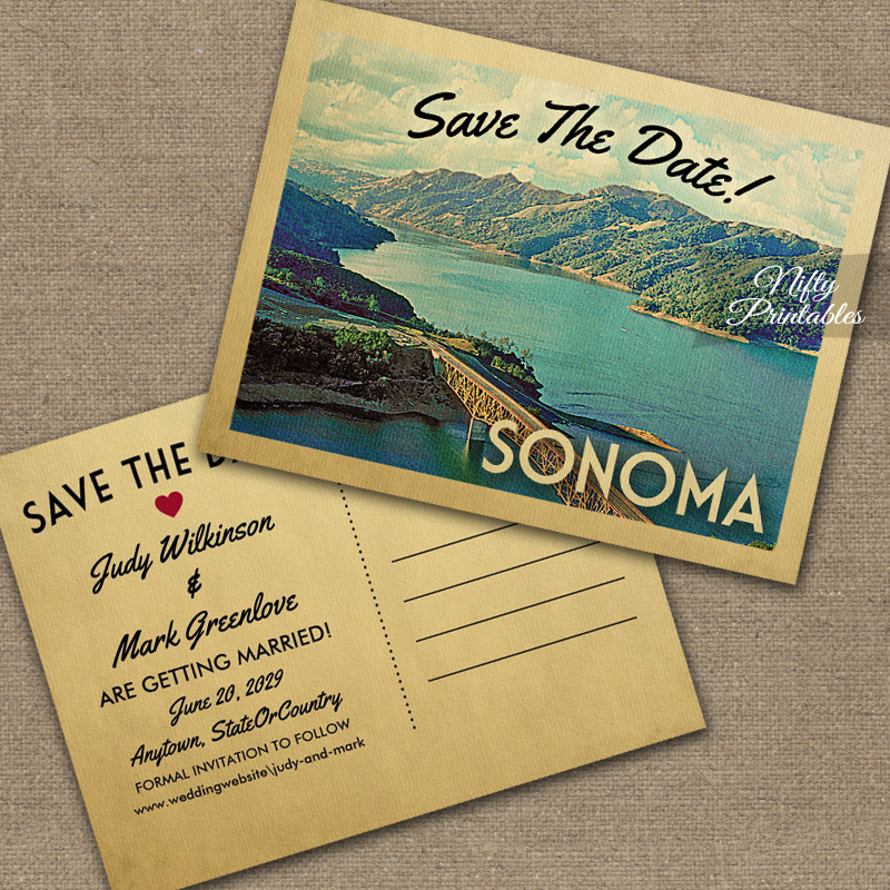 Sonoma Save The Date PRINTED