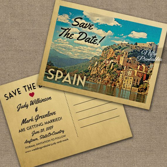 Spain Save The Date PRINTED