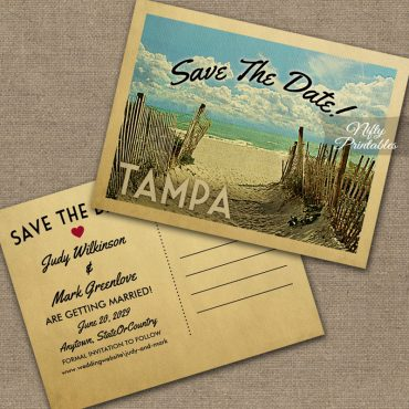 Tampa Save The Date Beach PRINTED