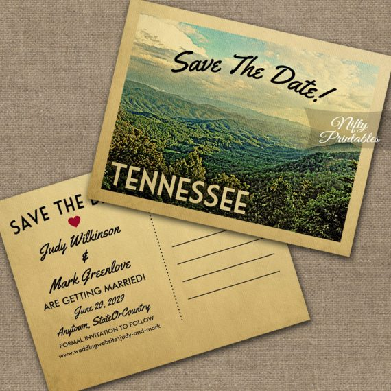 Tennessee Save The Date PRINTED