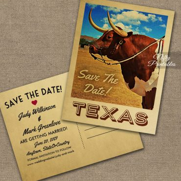Texas Save The Date PRINTED