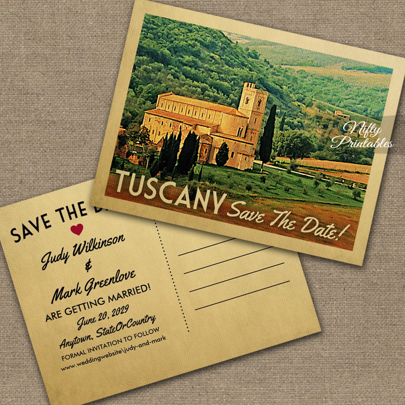 Tuscany Save The Date PRINTED